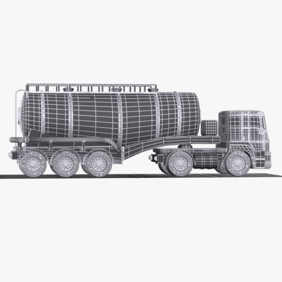 Cartoon V-type Truck royalty-free 3d model - Preview no. 11