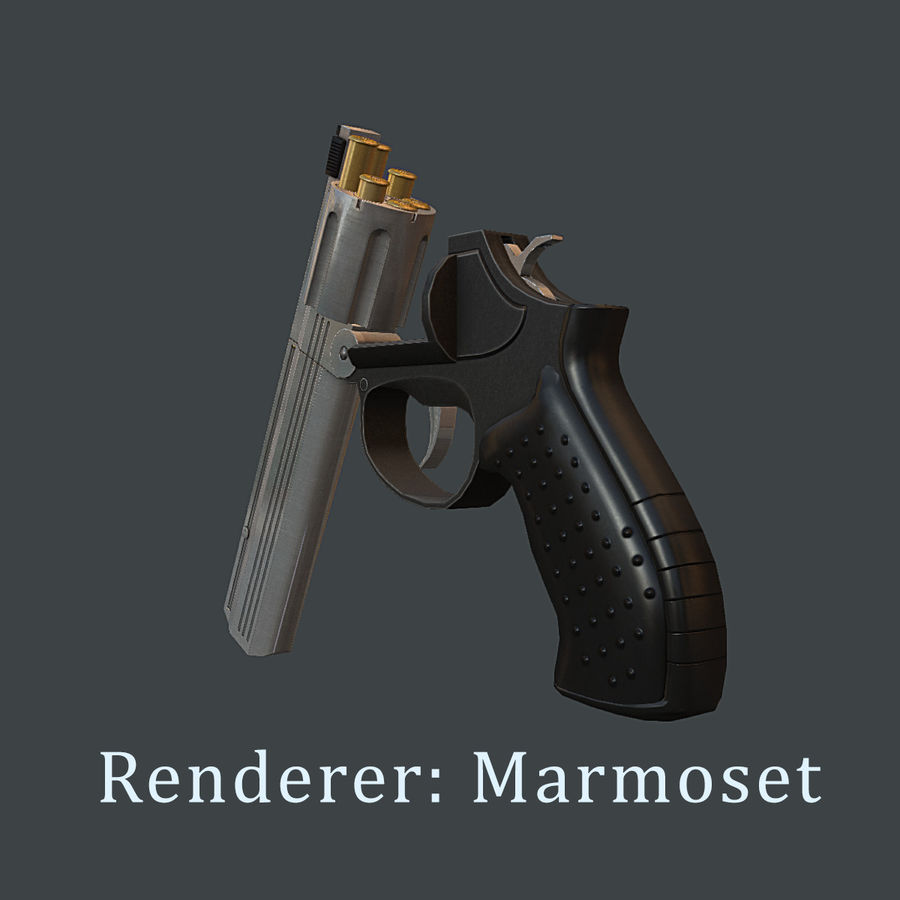 MP412 REX royalty-free 3d model - Preview no. 12