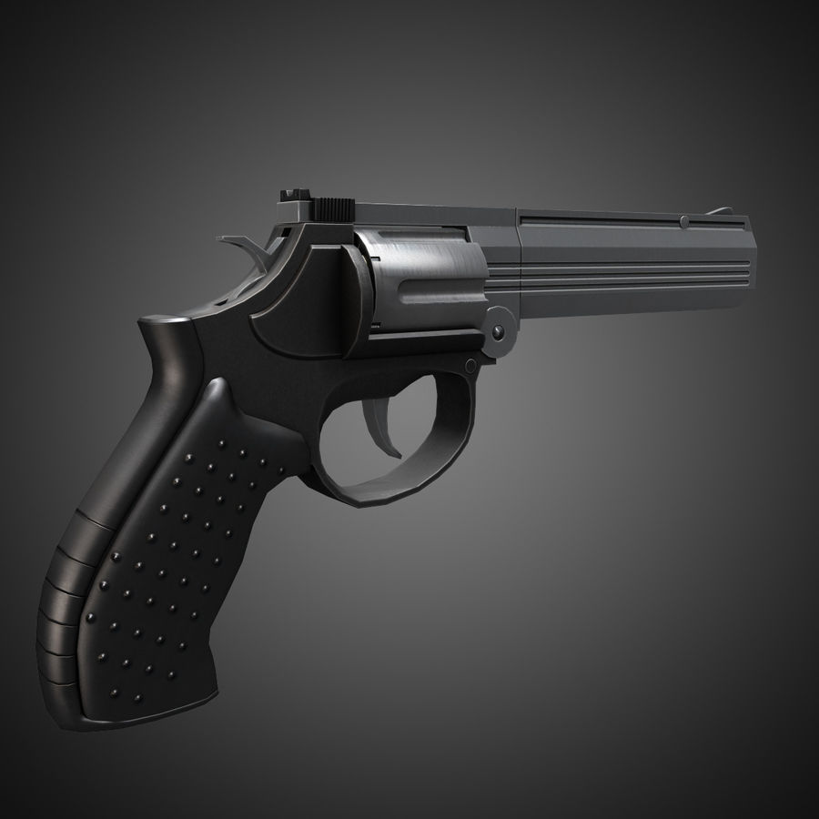 MP412 REX royalty-free 3d model - Preview no. 5