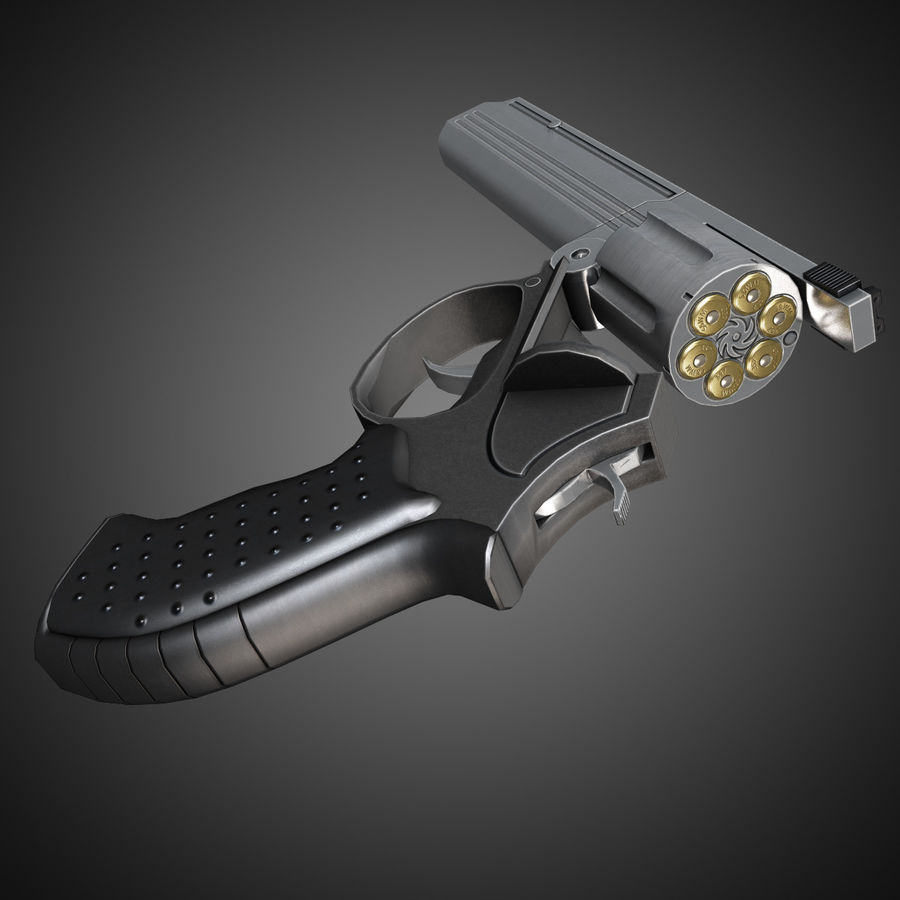 MP412 REX royalty-free 3d model - Preview no. 7