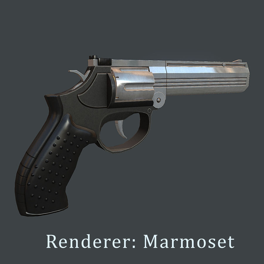 MP412 REX royalty-free 3d model - Preview no. 10