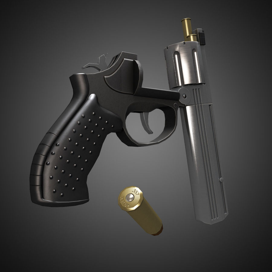 MP412 REX royalty-free 3d model - Preview no. 6