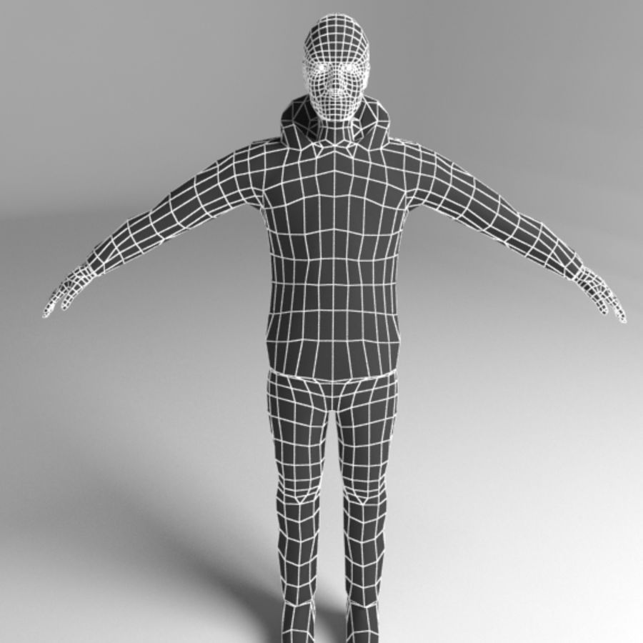 Homem royalty-free 3d model - Preview no. 5