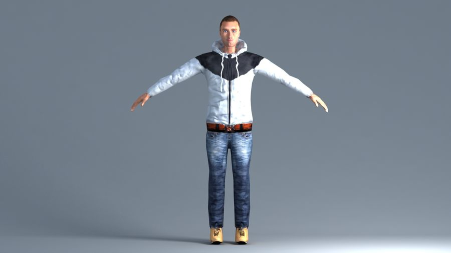 Homem royalty-free 3d model - Preview no. 2