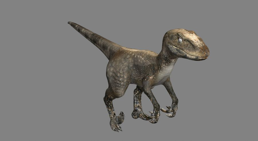Raptor royalty-free 3d model - Preview no. 3