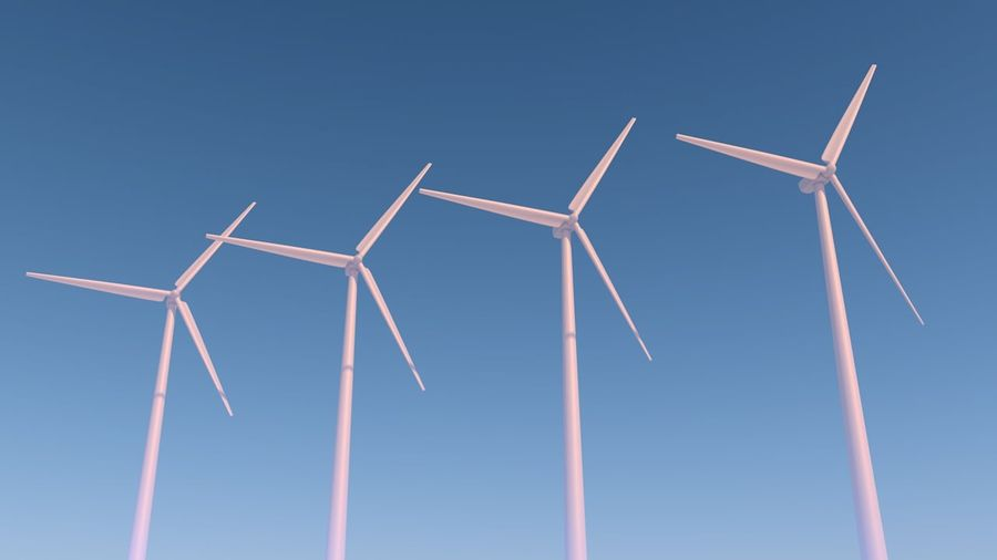 Wind Turbine royalty-free 3d model - Preview no. 2