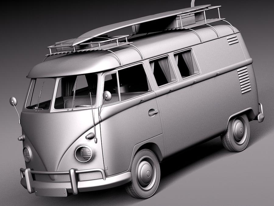Volkswagen Camper Van 1950 Hippy 3D Model $129 - .fbx .obj .max .lwo .c4d .3ds - Free3D