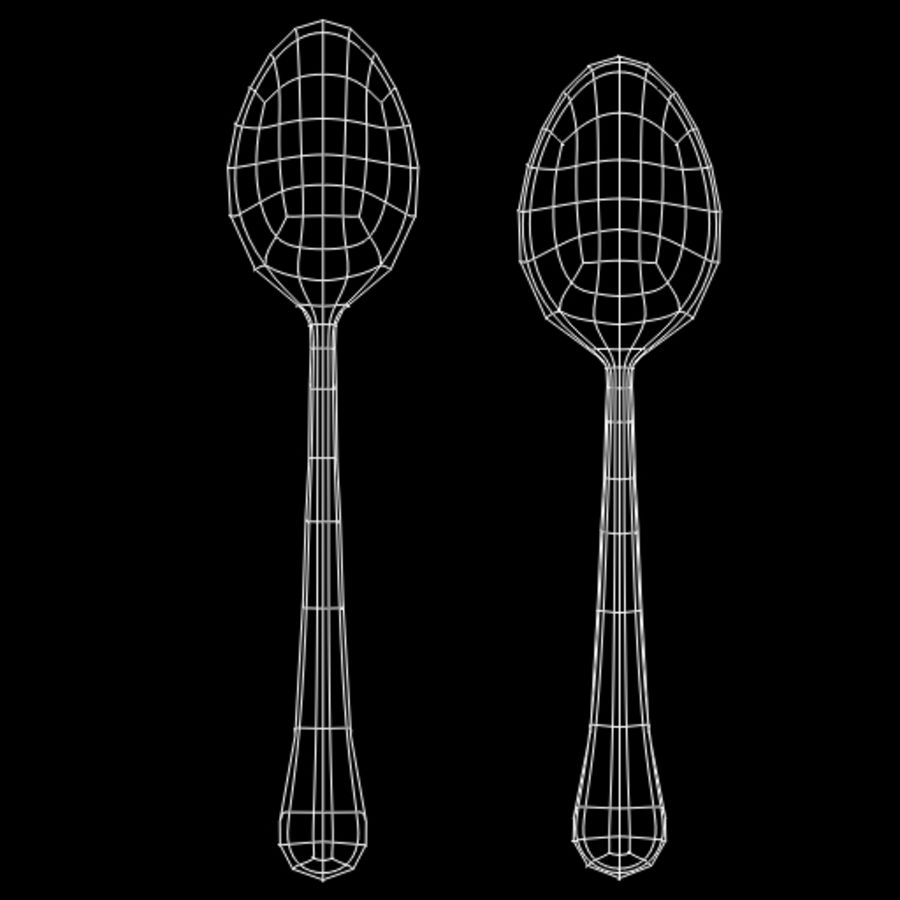 Tea Spoon royalty-free 3d model - Preview no. 10