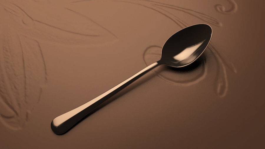 Tea Spoon royalty-free 3d model - Preview no. 4