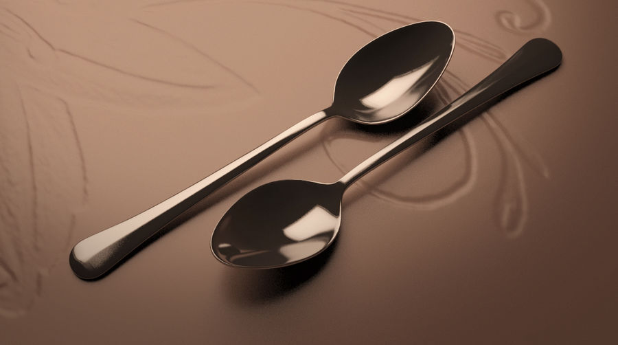 Tea Spoon royalty-free 3d model - Preview no. 2