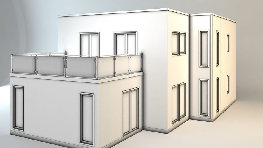 Cottage royalty-free 3d model - Preview no. 6