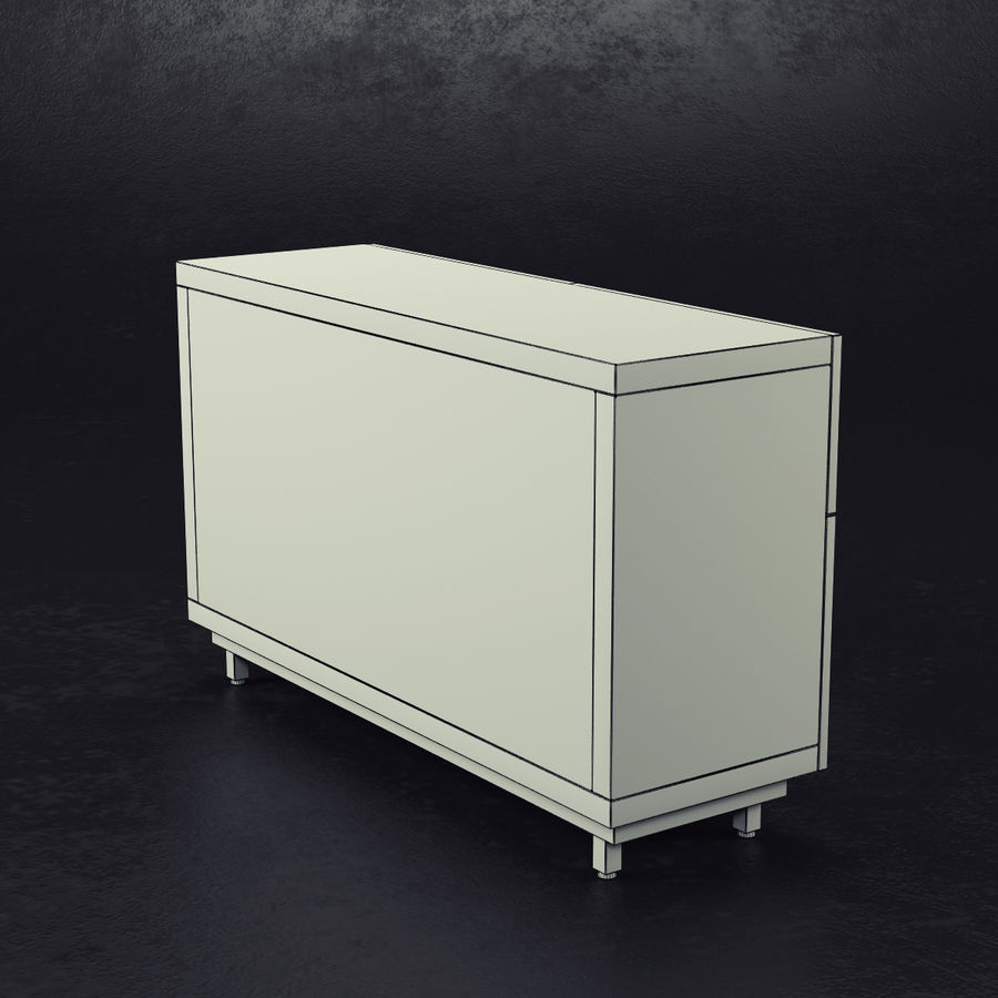 Ikea Besto 190 192 88 royalty-free 3d model - Preview no. 7