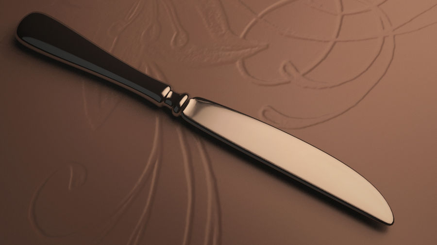 Knife royalty-free 3d model - Preview no. 1