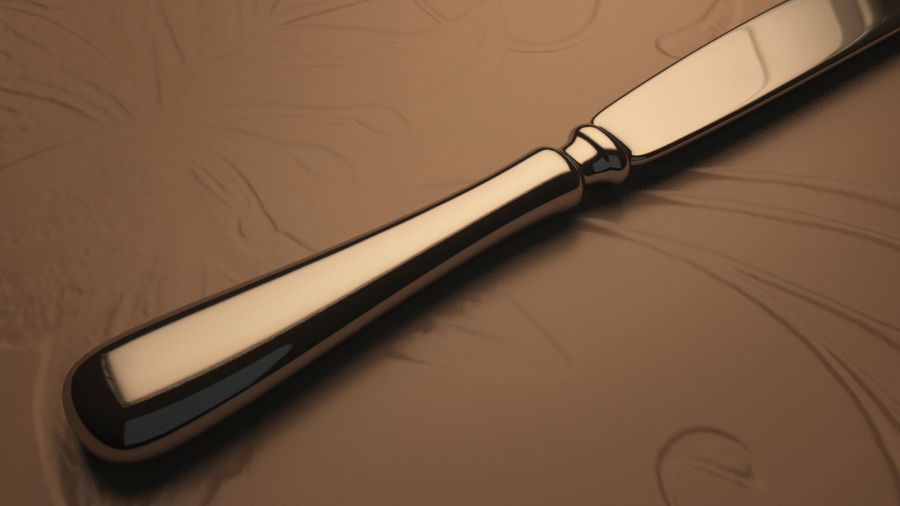 Knife royalty-free 3d model - Preview no. 2