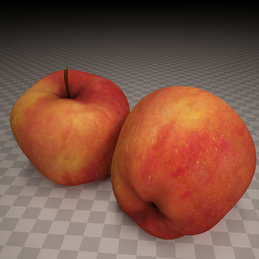 Red apple royalty-free 3d model - Preview no. 1
