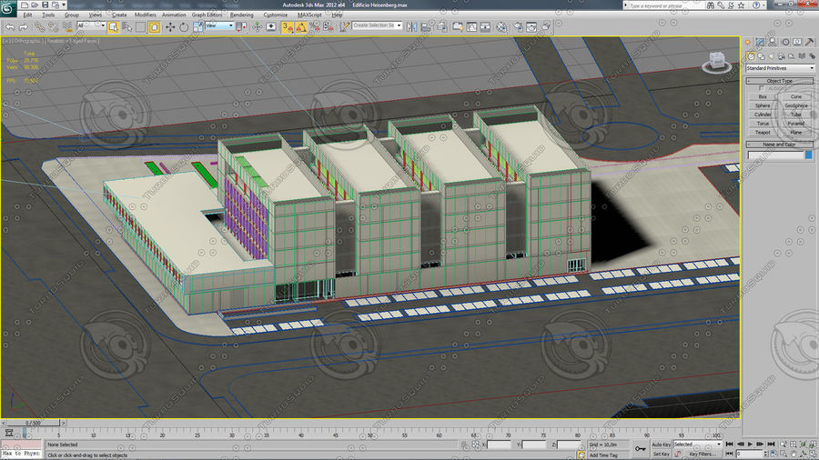 Hospital Building royalty-free 3d model - Preview no. 6