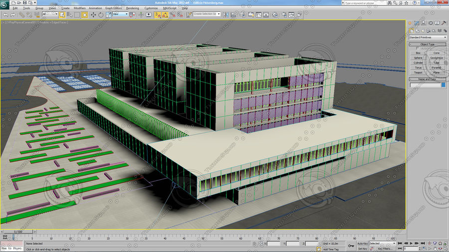 Hospital Building royalty-free 3d model - Preview no. 2