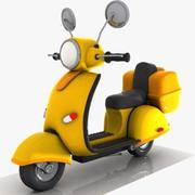 Cartoon Motorcycle 2 3d model