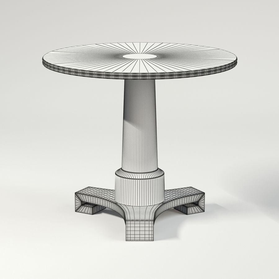 Adams Side Table Royalty Free 3d Model   Preview No. 7