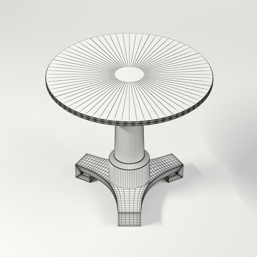 Adams Side Table Royalty Free 3d Model   Preview No. 10