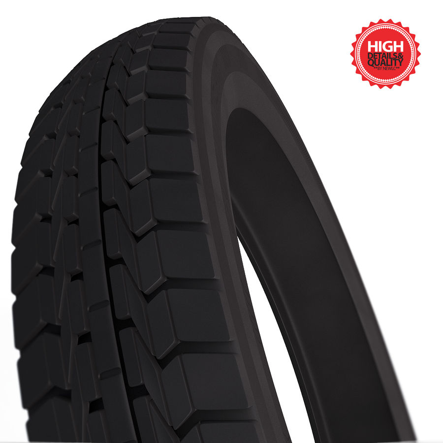 Moto Tyre royalty-free 3d model - Preview no. 1