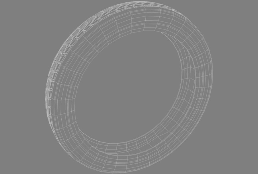 Moto Tyre royalty-free 3d model - Preview no. 7