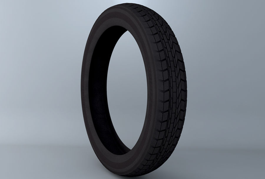 Moto Tyre royalty-free 3d model - Preview no. 3
