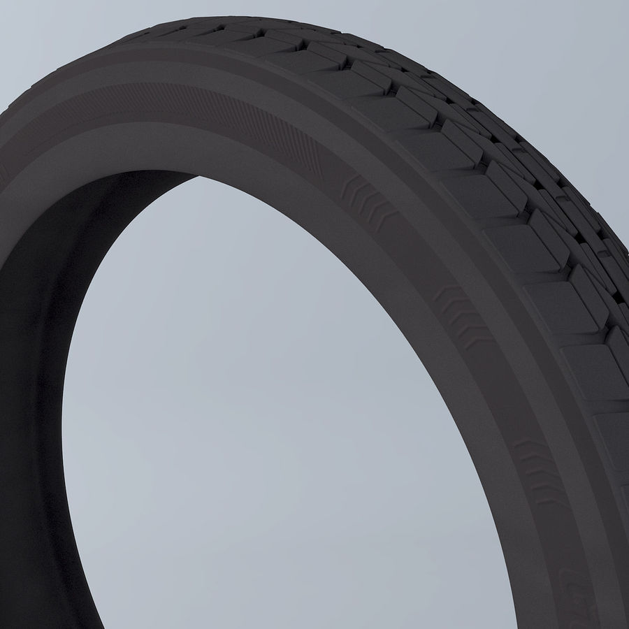 Moto Tyre royalty-free 3d model - Preview no. 2