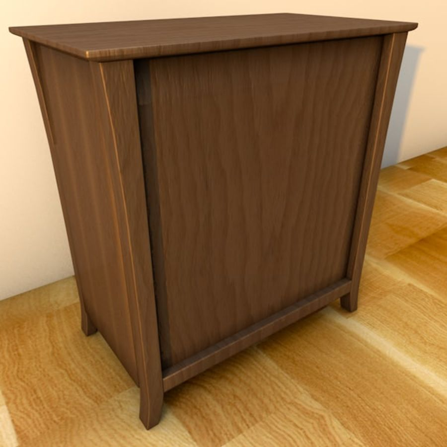 Vermont six drawer royalty-free 3d model - Preview no. 6