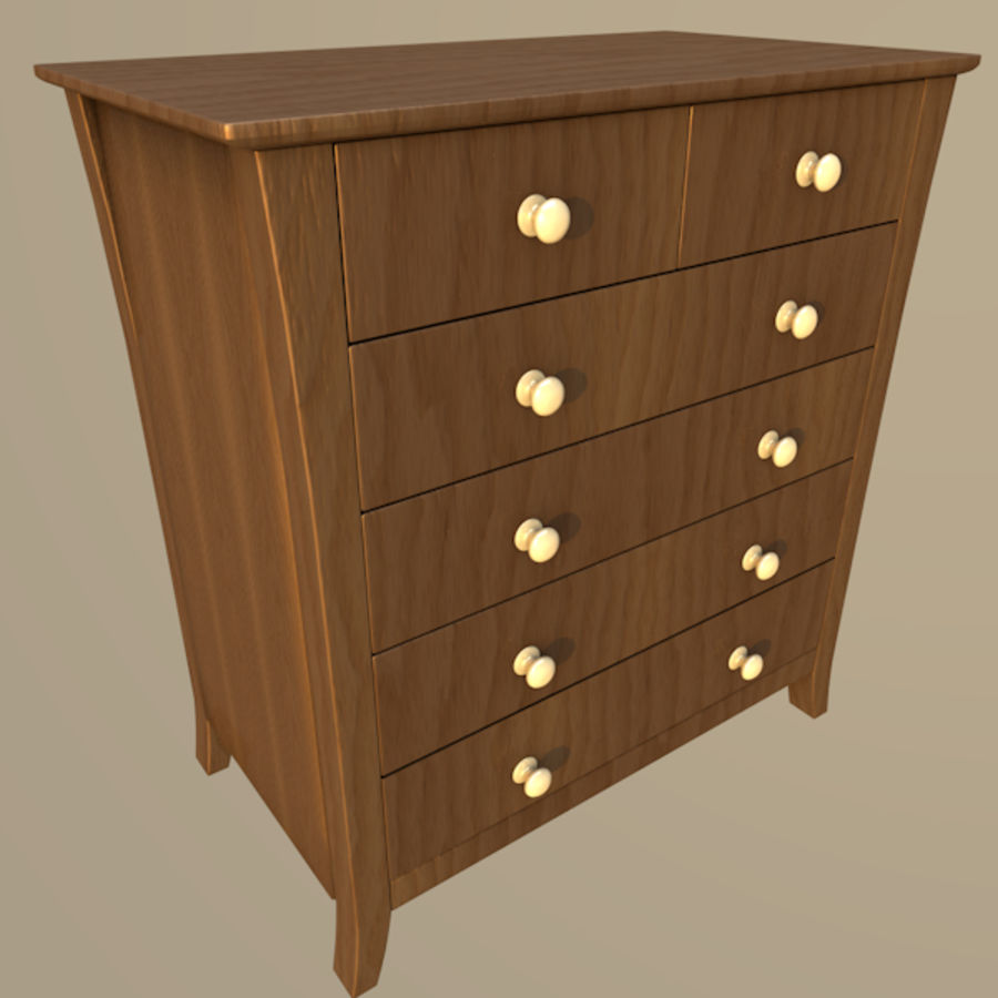 Vermont six drawer royalty-free 3d model - Preview no. 1