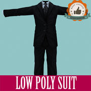 Men Suit Low Poly for Games 3d model