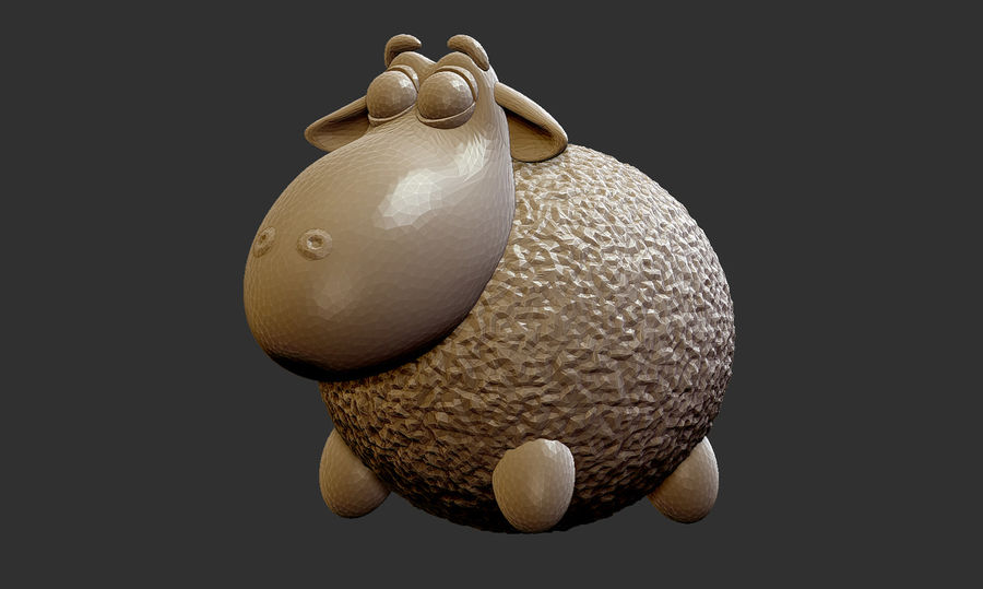 Sheep family royalty-free 3d model - Preview no. 2