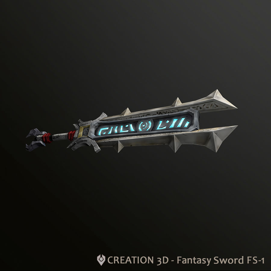 Fantasy Steampunk Giant Sword - FS1 royalty-free 3d model - Preview no. 3