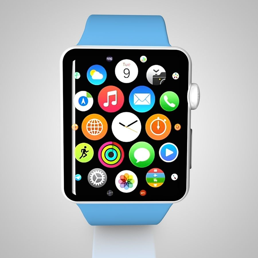 Apple Watch royalty-free 3d model - Preview no. 3