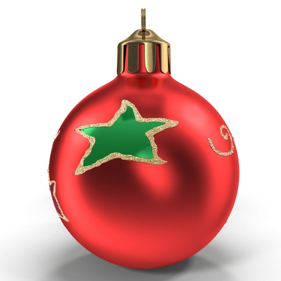 Christmas Ornament Balls 1 royalty-free 3d model - Preview no. 3
