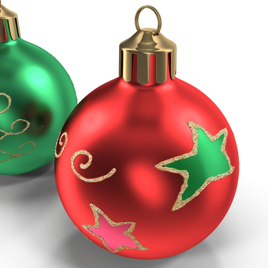Christmas Ornament Balls 1 royalty-free 3d model - Preview no. 16