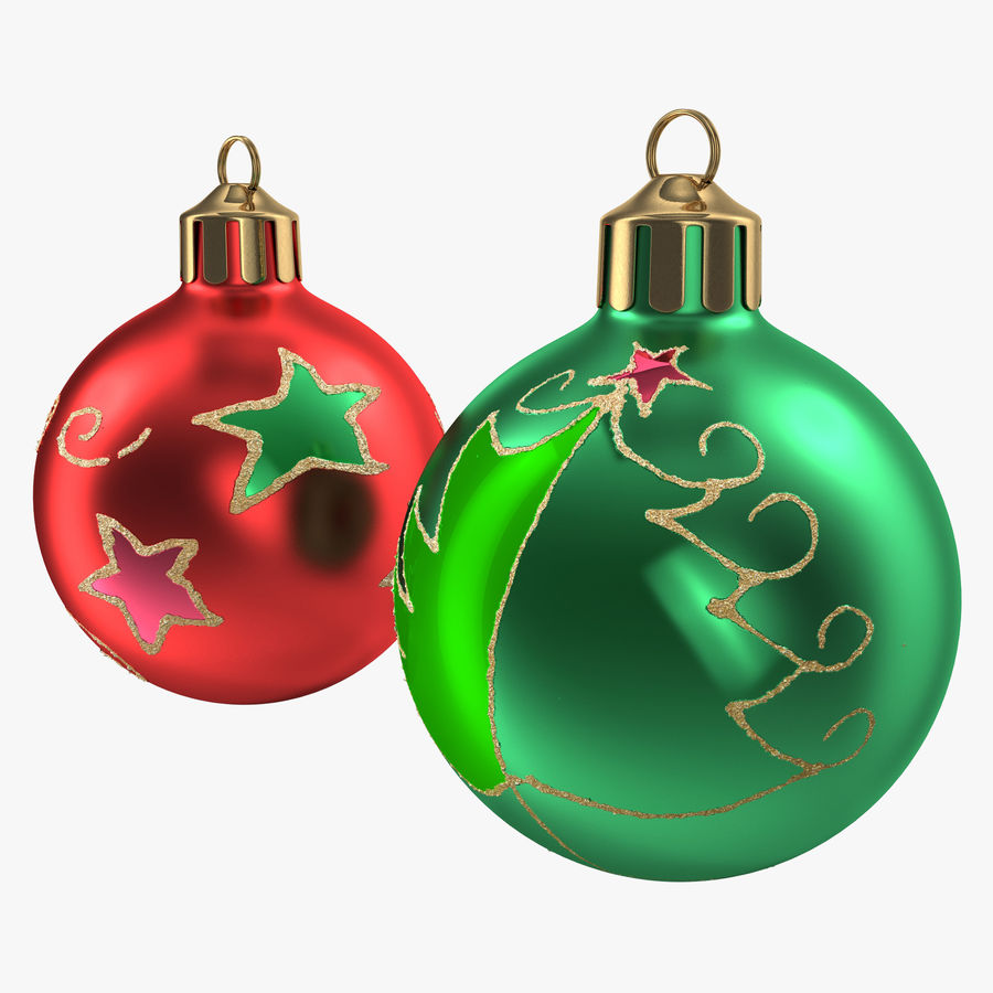 Christmas Ornament Balls 1 royalty-free 3d model - Preview no. 2