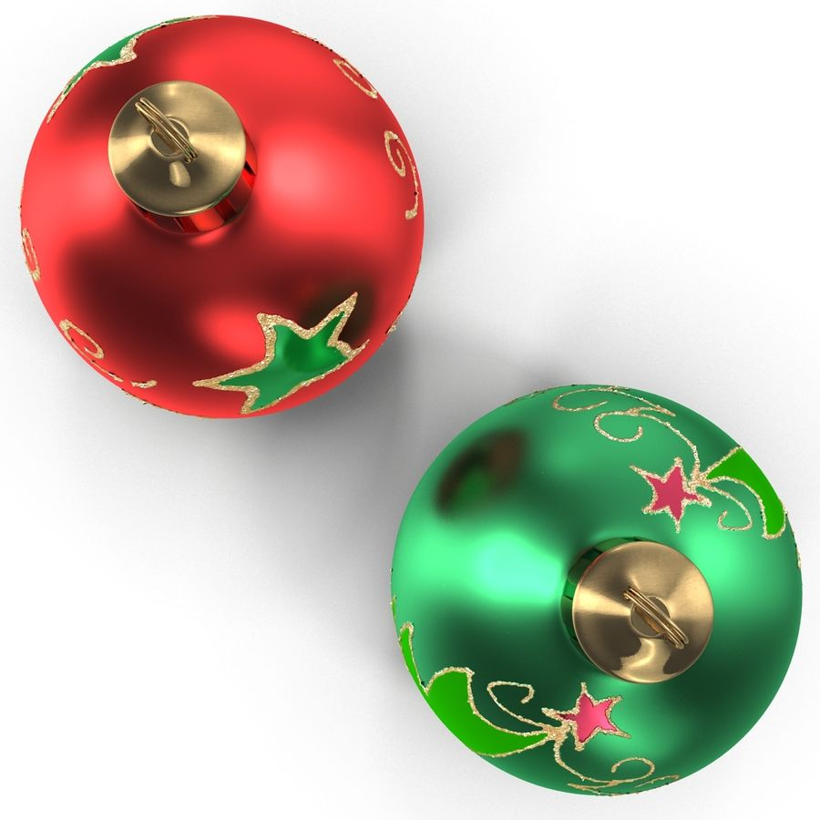 Christmas Ornament Balls 1 royalty-free 3d model - Preview no. 13