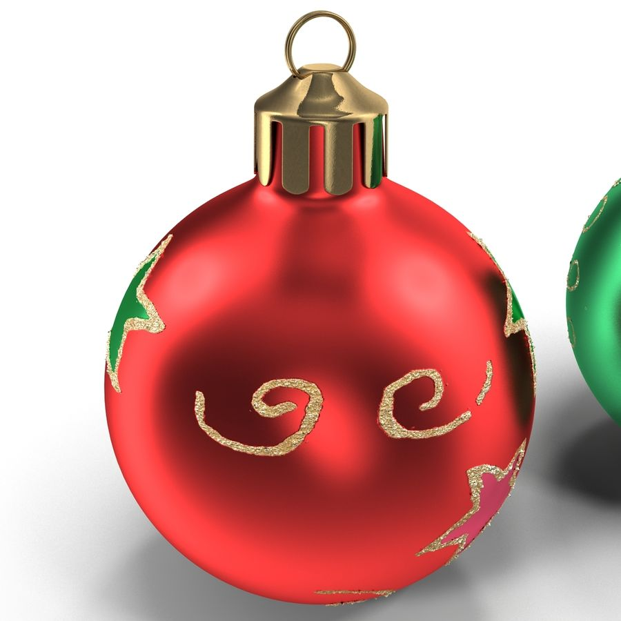 Christmas Ornament Balls 1 royalty-free 3d model - Preview no. 15
