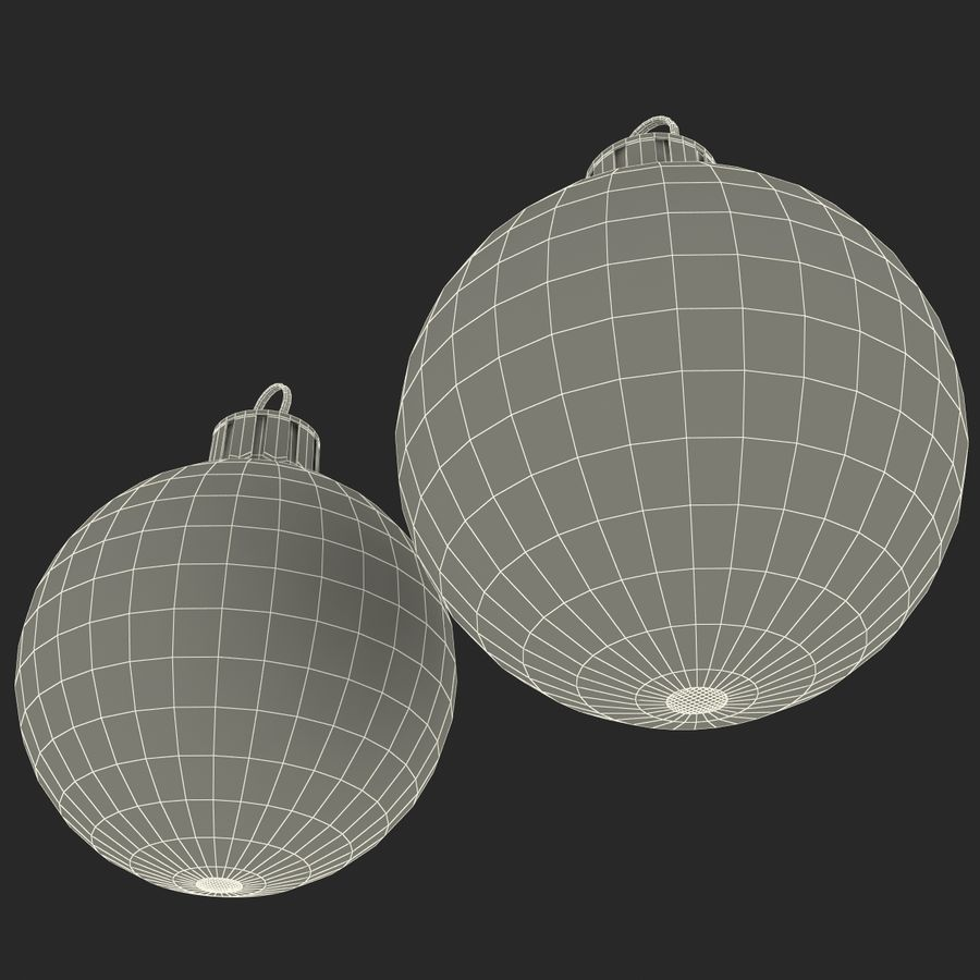 Christmas Ornament Balls 1 royalty-free 3d model - Preview no. 23