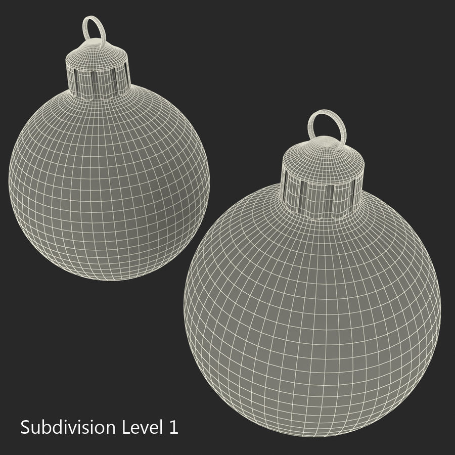 Christmas Ornament Balls 1 royalty-free 3d model - Preview no. 31