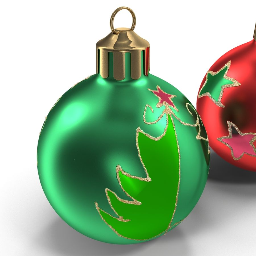 Christmas Ornament Balls 1 royalty-free 3d model - Preview no. 19