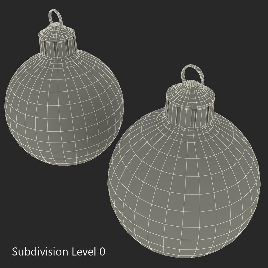 Christmas Ornament Balls 1 royalty-free 3d model - Preview no. 30