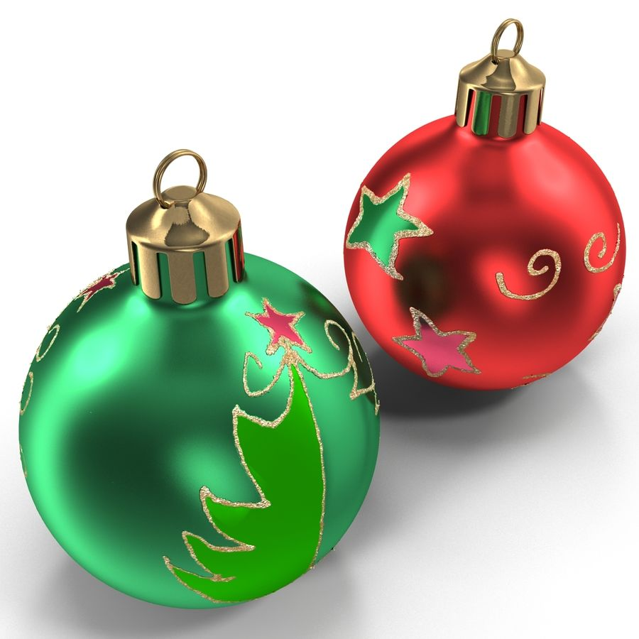 Christmas Ornament Balls 1 royalty-free 3d model - Preview no. 7