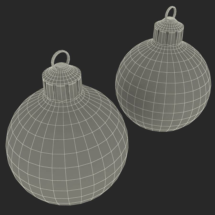 Christmas Ornament Balls 1 royalty-free 3d model - Preview no. 21