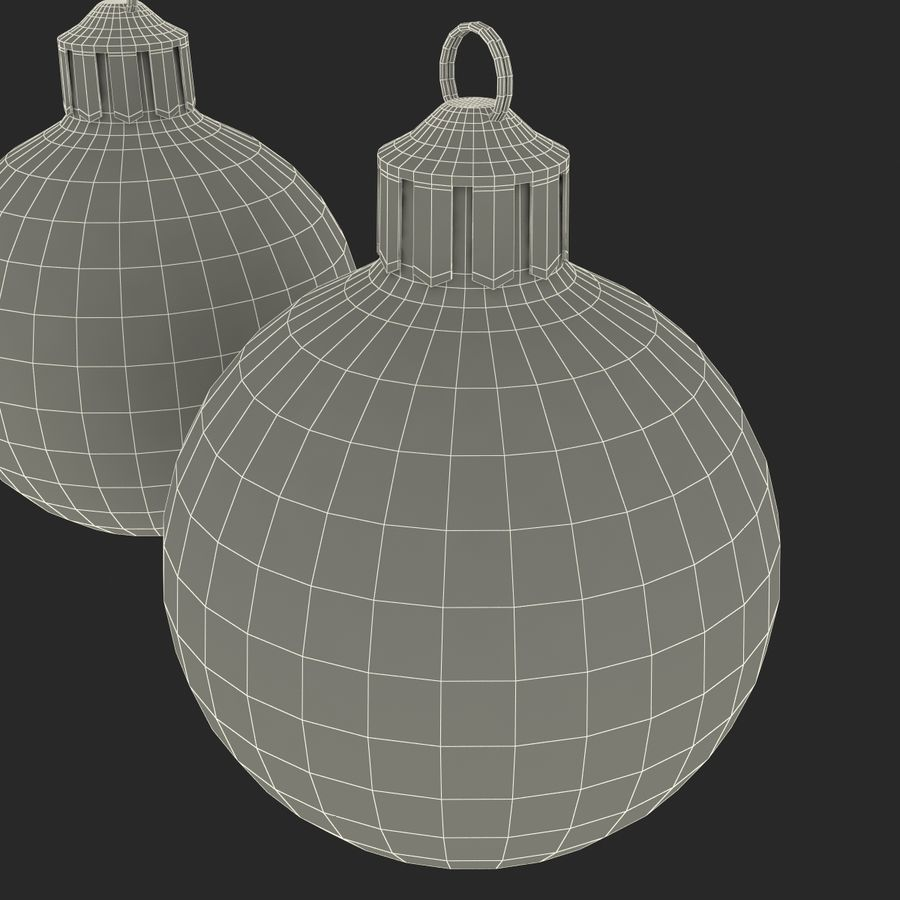Christmas Ornament Balls 1 royalty-free 3d model - Preview no. 25