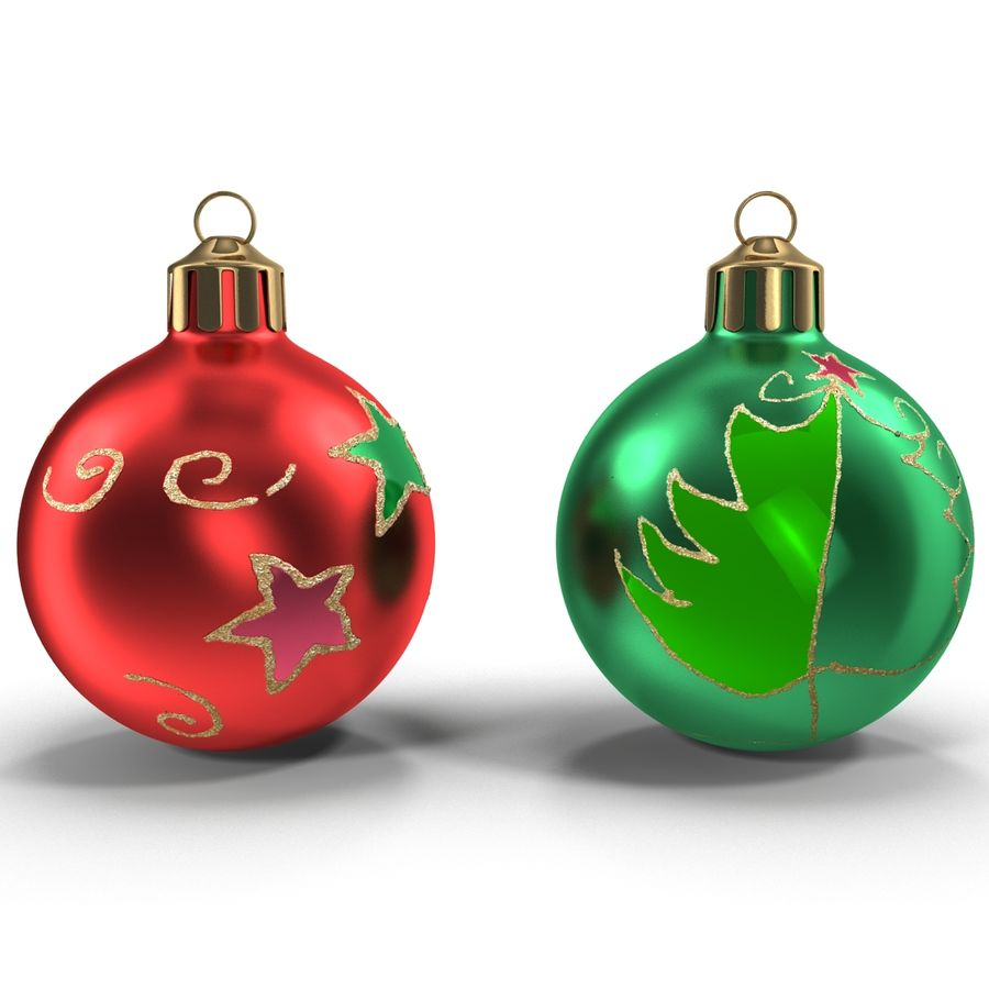 Christmas Ornament Balls 1 royalty-free 3d model - Preview no. 5