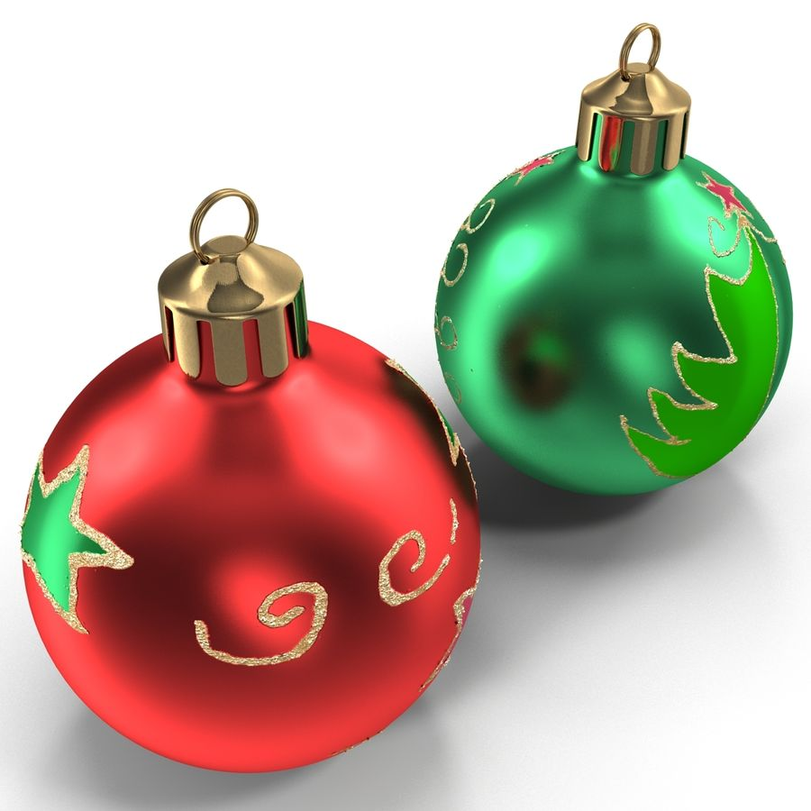 Christmas Ornament Balls 1 royalty-free 3d model - Preview no. 9