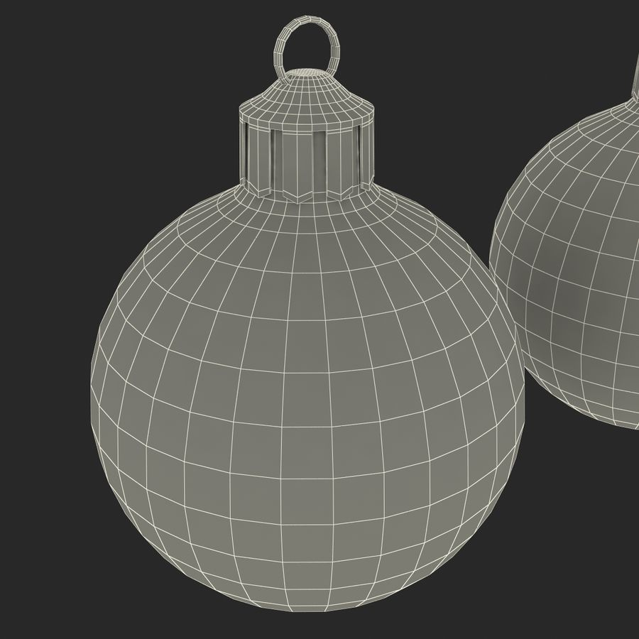 Christmas Ornament Balls 1 royalty-free 3d model - Preview no. 24