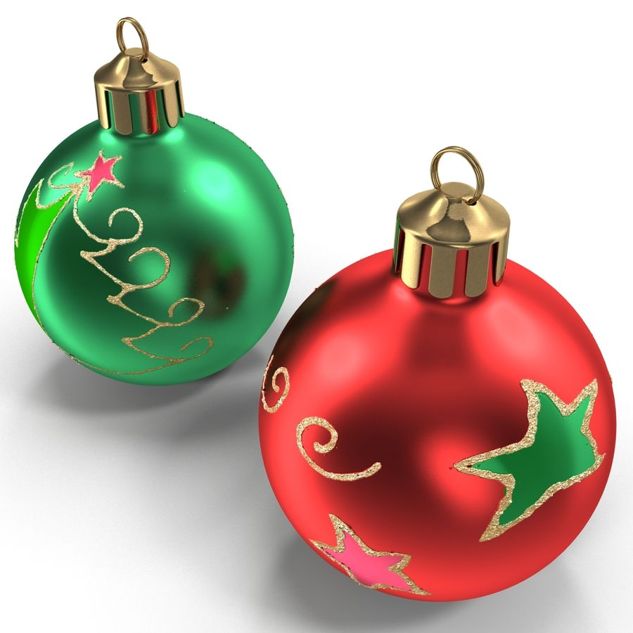 Christmas Ornament Balls 1 royalty-free 3d model - Preview no. 12